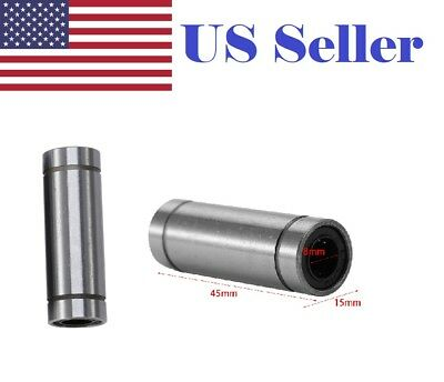2pcs Lm8luu 8mm Long Linear Motion Bearing Ball Bushing 8x15x45mm Cnc Parts