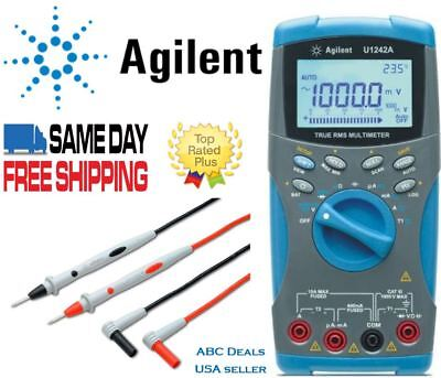 Agilent U1242A True RMS Digital Mutlimeter + Agilent Test leads USA seller Fluke