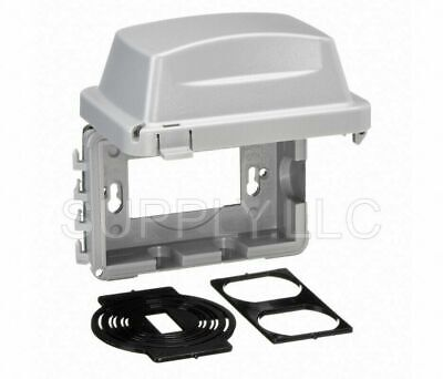 Quick-fit Weatherproof Cover Gray Outdoor Electrical Box Duplex Outlet Protector