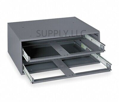 Metal Storage Tray Bolts Nuts Cabinet Sliding Rack With Two Drawers