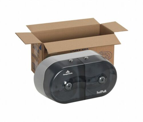 Georgia Pacific SofPull Mini Centerpull Twin-Roll Tissue Dispenser Smoke Durable