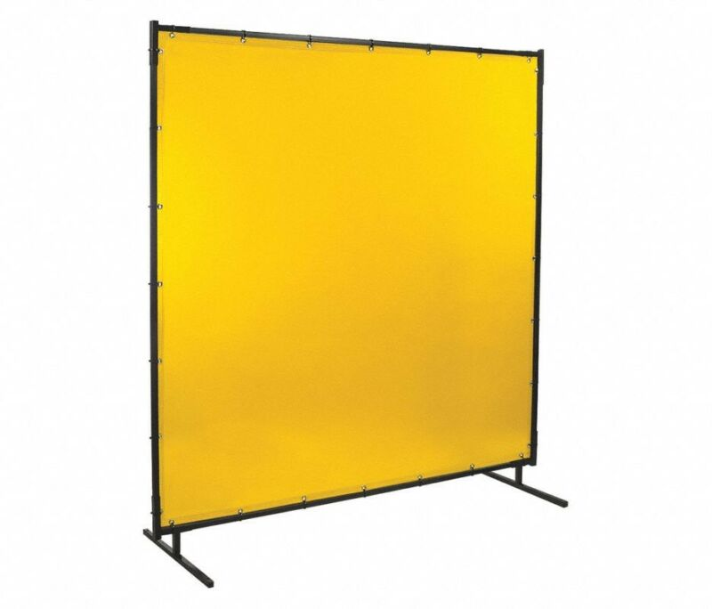 "Transparent Vinyl Welding Screen, 6 ft. H x 8 ft.W x 0.014"" Thick, Yellow 3W171"