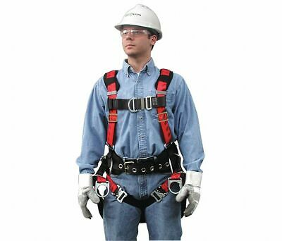 Lot Of 8 Msa 10048344 Technacurv Tower Harness Integral Backpad Vest Style