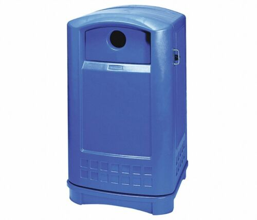 RUBBERMAID Polyethylene Recycling Container,Blue,50 gal., FG396873BLUE, Blue