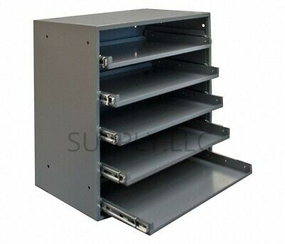 Metal 5 Drawer Storage Tray Cabinet Steel Parts Nuts Bolts Fasteners Screws