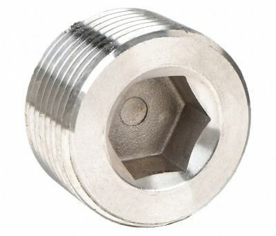 2 Mnpt Ss Hex Socket Plug 316 Stainless Steel 150 Psi Pipe Fitting