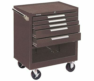 Kennedy 295xb Brown Rolling Cabinet 29w 5 Drawers 12280 Cu.in. Hd