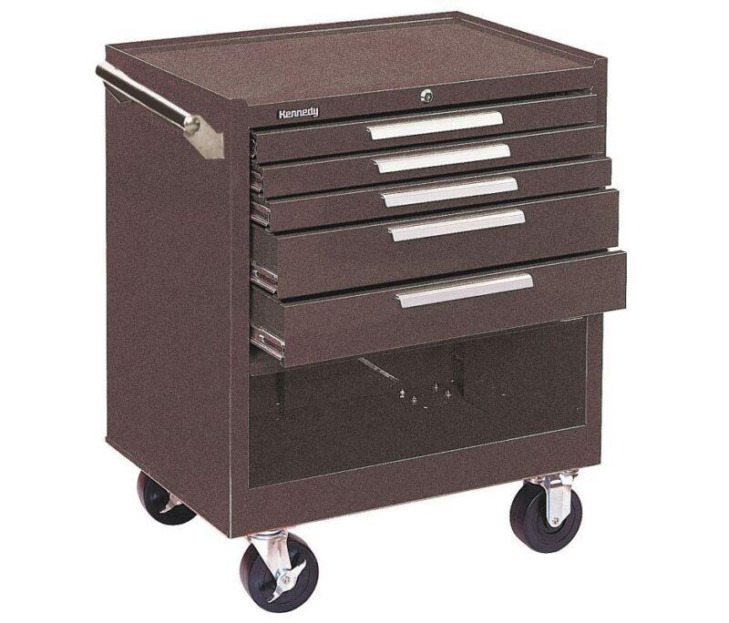 "Kennedy Brown Rolling Cabinet 29W"" 5 Drawers 12,280 cu.in. HD 295XB"