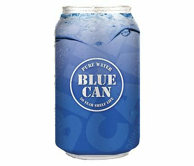 Blue Can Premium Emergency Drinking Water 12oz Cans 24/Pack 50 Year Shelf Life