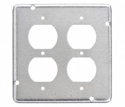 Raco Galvanized Steel Electrical Box Cover Number Of Gangs 2 4-34 Width 979