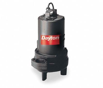 Dayton 3bb93 Manual Submersible Sewage Pump 1 Hp 240 Volt New