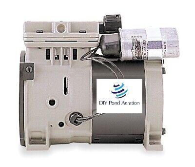 New Thomas 688ce44 Piston Air Compressorvacuum Pump13hp 100 Psi 27hg 1.6 Cfm