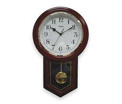 Dakota Designs Chiming Decorative Quartz Wall Clock with Pendulum
