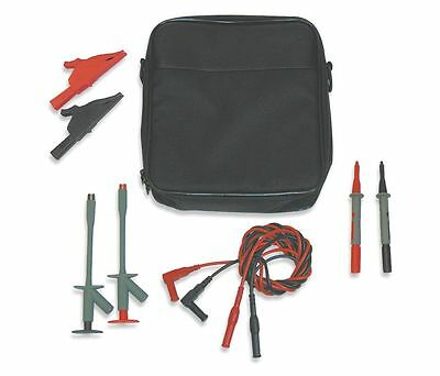 Soft Black Carrying Case With Leads 4wrd9 Test Kit For Fluke Meters