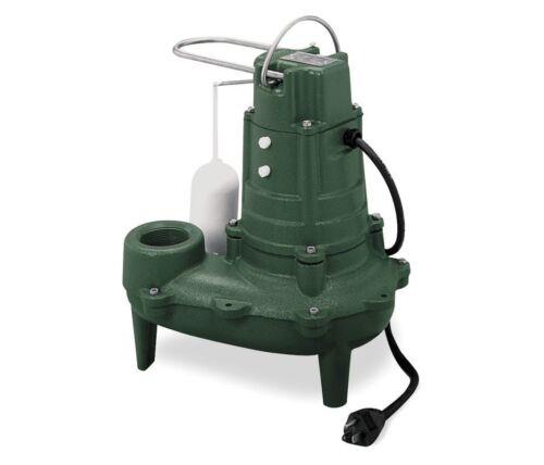 "Zoeller M267 - 1/2 HP Cast Iron Sewage Pump (2"") w/ Vertical Float"