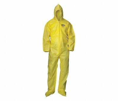 Condor Yellow Hooded Coveralls With Elastic Cuff Chem Basic 3xl 30lv37 12 Pcs
