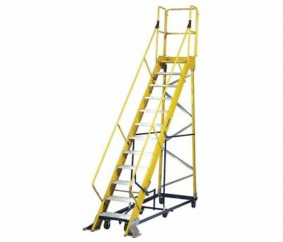 Fw24125mrj112-step Rolling Ladder Serrated Step Tread 15612 In Overall Heig