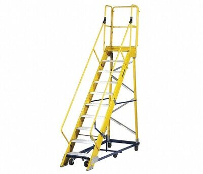 Fw24105mrj010-step Rolling Ladder Serrated Step Tread 137 In Overall Height