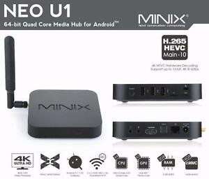 Android Minix Neo U1, X6, loaded with Kodi + qwerty keyboard