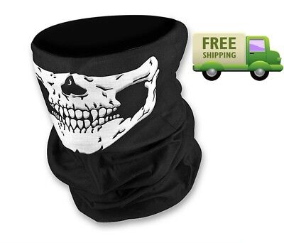 Halloween 2017 Seamless Skull Scary Mask Motorcycle Half Face Tube Skeleton