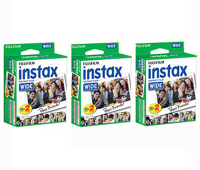 60 Prints Fujifilm Instant Wide Film for Fuji Instax 200, 210, 300 Camera 3/2020