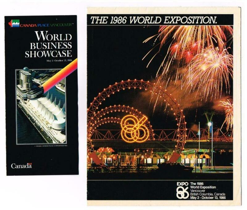 World Expo 86 Brochures; Large Foldout & World Business Showcase