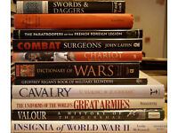 UNIFORMS OF THE WORLD'S GREAT ARMIES AND 10 SIMILAR HARDBACK BOOKS.