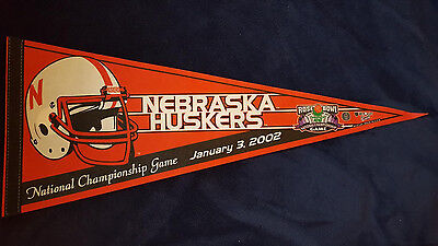 - NEBRASKA CORNHUSKERS PENNANT 2002 NATIONAL CHAMPIONSHIP GAME ROSE BOWL LOGO