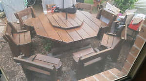 Huge Very Heavy Solid Timber 16 Person Octagonal Outdoor Setting Woy Woy Gosford Area Preview