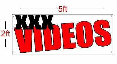 XXX Videos Vinyl Banner Sign 13oz 2ftx5ft Best Price and (Best Banner And Sign)