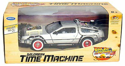 Welly Back to the Future Part 3 DMC DeLorean Time Machine 1:24 Die Cast Metal](Back To Future)