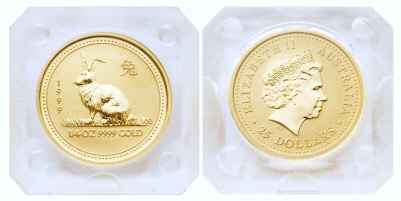 Australia 1999 Year of Rabbit 1/4 oz Gold Coin BU