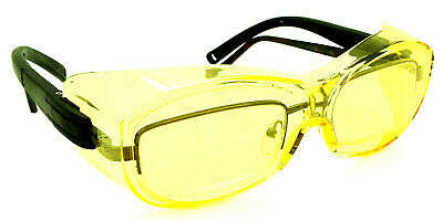 Shooters Edge Otg Over-the-glasse Z87.1 Safety Shooting Glasses Contrast Yellow