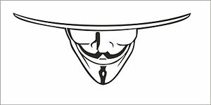 V-for-VENDETTA-Anonymous-Mask-Guy-Guido-Fawkes-decal-sticker-vinyl-wall-art-V2
