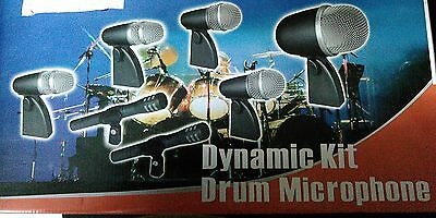Drum Kit Microphone System - Shure Replica Drum Kit Mic Microphone 7 pieces Professional Dynamic Mic System