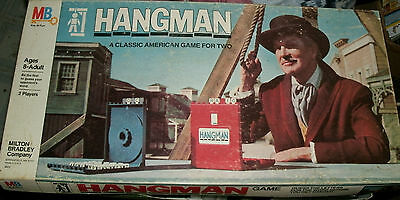 Hangman The Board Game Classic American Game For 2 Ages 8 Adult Milton Bradley