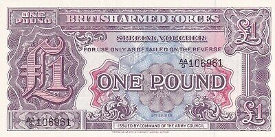 British Armed Forces One Pound 2nd Series UNC