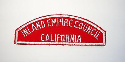 BOY SCOUT   INLAND EMPIRE COUNCIL  /  CALIFORNIA        RWS  PLASTIC BACK