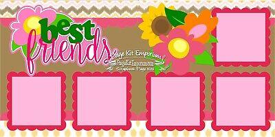 - Scrapbook Page Kit Paper Piece Best Friends BFF Girl Flowers PKEmporium 167