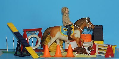 Lot of Breyer model horse and doll: Dog and Pony Agility Set for Play