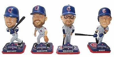 Mlb Chicago Cubs 2016 World Series Champions Mini Bobblehead 4 Pack Set