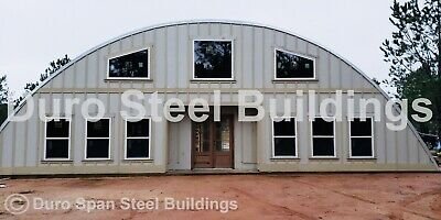 Durospan Steel 55x56x19 Metal Diy Quonset Home Building Kits Open Ends Direct