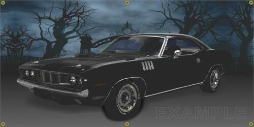 """!971 Black Cuda 24""""X48"""" 13 oz. Banner"""