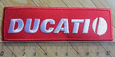 Aufnäher / Aufbügler/ Patch: DUCATI - Logo rot/ weiss- Rar!