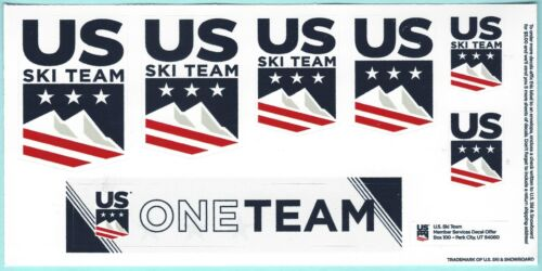 2020 US OLYMPIC SKI TEAM STICKER DECAL LOT SET USA UNITED STATES