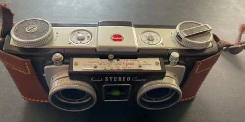 Kodak Stereo  (35mm Film Camera) With Leather Case & Leather Strap