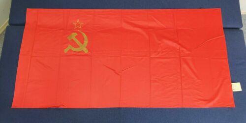 FLAG USSR SOVIET UNION LARGE RED EMBLEM HAMMER AND SICKLE BANNER BIG! 160х80cm