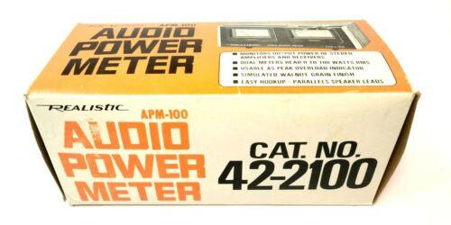 Vintage REALISTIC APM-100 Audio Power Meter  Stereo Power Meter/Gauge New