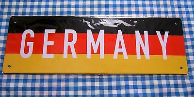 Germany Patriotic Black - Red - Gold Metal Sign Collectors Item Oktoberfest :-)