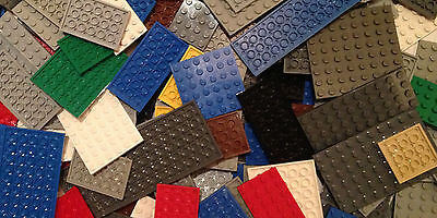 LEGO 20 Base Plates Boards Strips Bricks Mixed Colours / Sizes - Job Lot Sets
